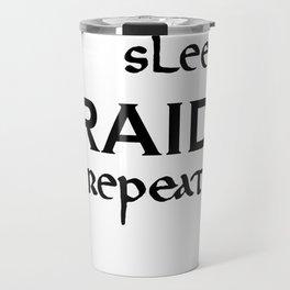 eat-sleep-RAID-repeat black, Vikings Travel Mug