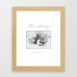 Klaus Schulze Hamburg '77 Framed Art Print