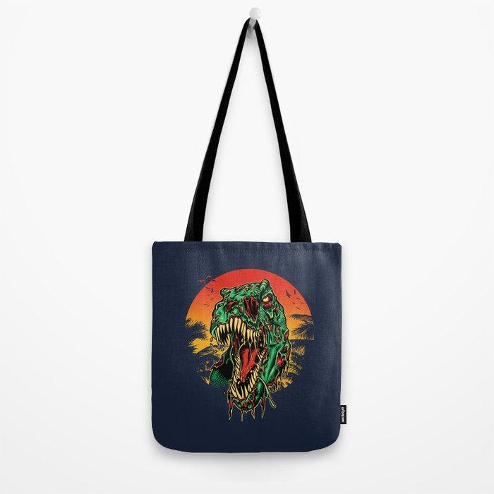 Zombie T-Rex Tote Bag