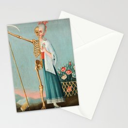 Life and Death Vintage Oil Painting Stationery Cards
