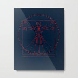 Robot Anatomy Metal Print