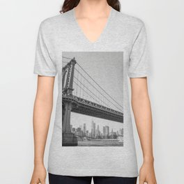 Manhattan Over Manhattan Unisex V-Neck