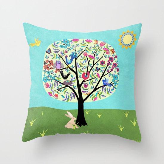 Joyful Tree Throw Pillow