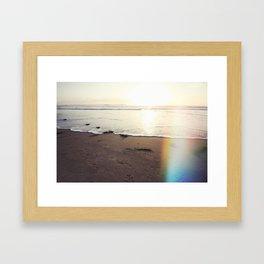Heaven's Light Rays California Framed Art Print
