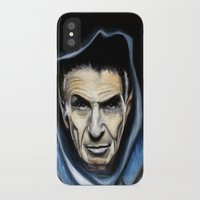 spock iPhone & iPod Cases featuring Spock by James Kruse