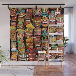 Tiki Pattern Wall Mural