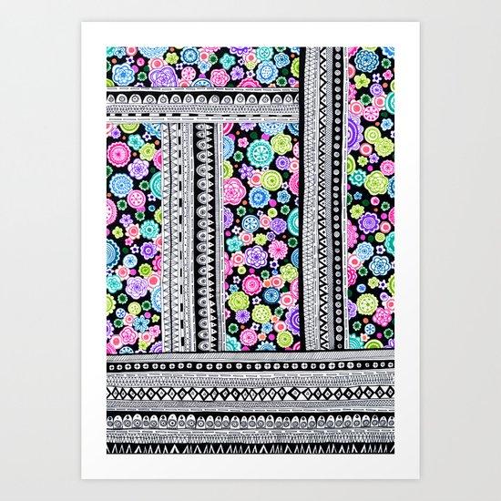Psychedelic blanket Art Print