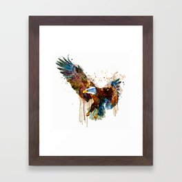 Free and Deadly Eagle Framed Art Print