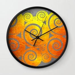 """ Kiwi Lifestyle"" - Golden Kuro Wall Clock"