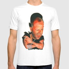 Bruce Willis Mens Fitted Tee White MEDIUM