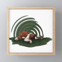 got a good feline about us Framed Mini Art Print