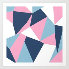 Abstraction Pink Art Print
