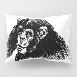 Hand sketch of a young chimpanzee Pillow Sham