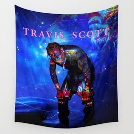 travis astroworld tour 2019 merah Wall Tapestry