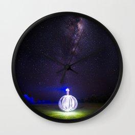 Milk way lighthouse Wall Clock
