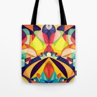 poetry Tote Bags featuring Poetry Geometry by Anai Greog