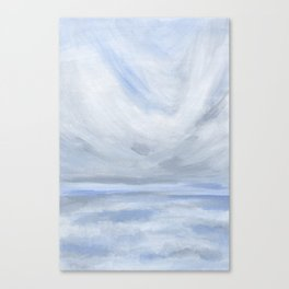 Unclear - Moody Gray Ocean Seascape Canvas Print