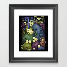 Crowd of Aliens Framed Art Print