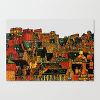 edinburgh Canvas Prints featuring Edinburgh by dacarrie
