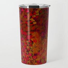 Crimson Watercolor Painting Travel Mug