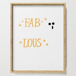 I am Fab BOO Lous Spooky Halloween Ghost Costume Serving Tray