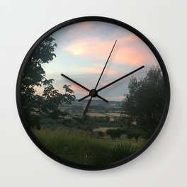 Sunset in Southern Italy Wall Clock