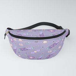 Menhera Needles on Purple Fanny Pack
