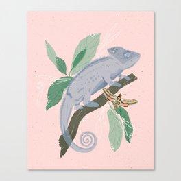 Blue Chameleon Canvas Print