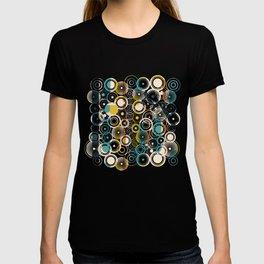 Circles Galore in Teal T-shirt