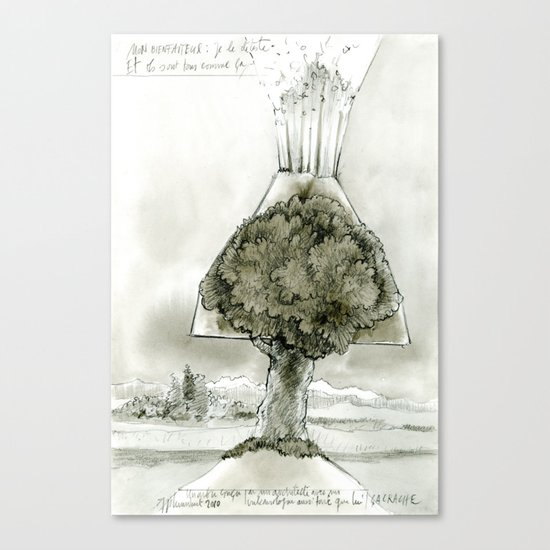 Volcano tree Canvas Print