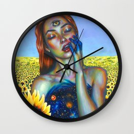 Outer and inner suns Wall Clock