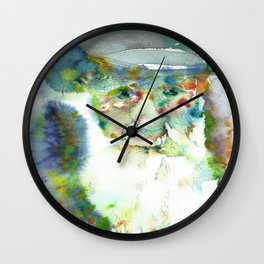 CHARLES DARWIN - watercolor portrait Wall Clock
