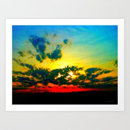 Curdled Clouds Art Print