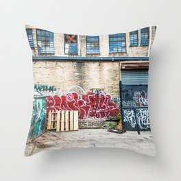 Around Back Throw Pillow