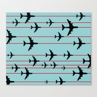 planes Canvas Prints featuring Planes by Frances Roughton