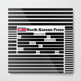 North Korea News Paper Metal Print