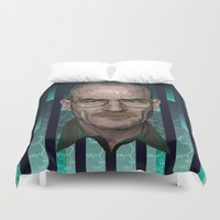 architect Duvet Covers featuring Braking Bad - The Architect - Walter White by milanova