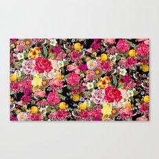 Fashion Botanic Pattern Canvas Print