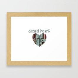 Closed art Illustration Framed Art Print