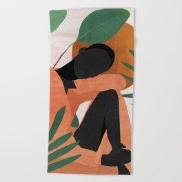 Tropical Girl 10 Beach Towel