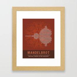 Science Posters - Benoit Mandelbrot - Mathematician Framed Art Print