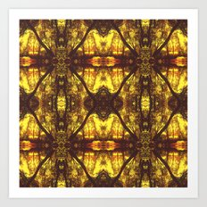 Kaleidoscope Woods Art Print