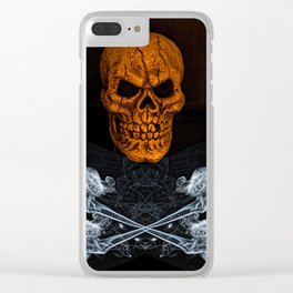 Skull And Crossbones 2 Clear iPhone Case