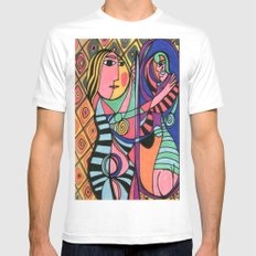 Lady in the Mirror Mens Fitted Tee White MEDIUM