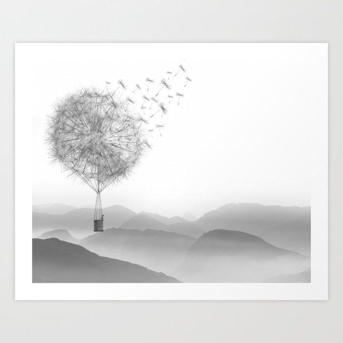 Dandelion Sketch Kunstdrucke