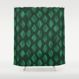 Emerald Green Diamonds Shower Curtain