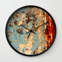 Rusted Train Wall Clock