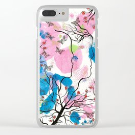 Growing Apart Clear iPhone Case