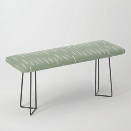 Raindrop Boho Abstract Pattern, Sage Green Bench