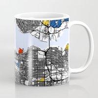 mondrian Mugs featuring Vanvouver Mondrian by Mondrian Maps